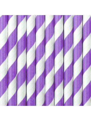 Raidalliset paperipillit violetti