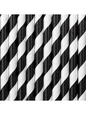 Paperipillit mustilla raidoilla.