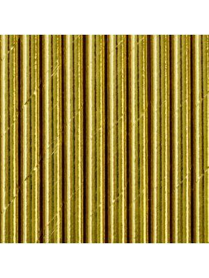 Metallinhohtoiset kullanväriset paperipillit.