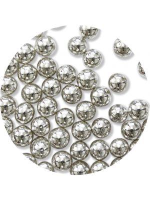 PME Silver Sugar Pearls - Hopeiset sokerihelmet, 6 mm.
