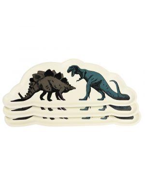 Isot tarjoilulautaset dinosauruksilla, 3 kpl.