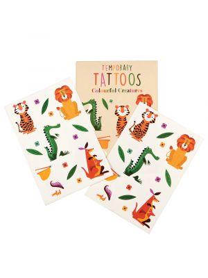 Villit eläimet - väliaikaiset tatuoinnit.