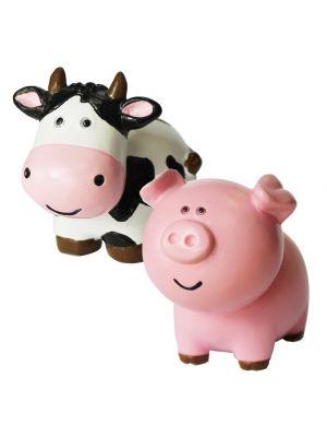 Kakkukoriste, lehmä ja sika, 5 cm.