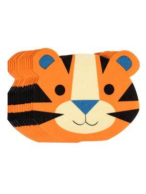 Tiikerin muotoiset servetit, 16 kpl.