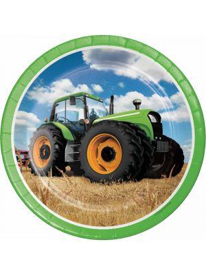 Pahvilautaset, Traktori, 22cm, 8kpl