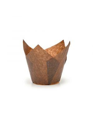 Ruskeat tulppaani -muffinivuoat, 200 kpl.