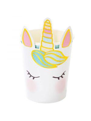 Pahvimukit, Unicorn Face, 250ml, 8kpl