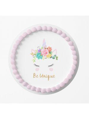 Kakkukuva - Yksisarvinen Unicorn, Be Unique