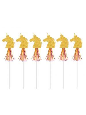 Isot unicorn-taikasauvat, 6 kpl.
