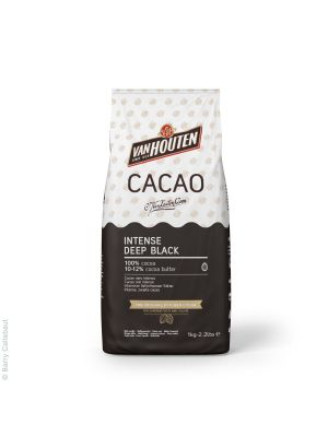 Van Houten Intense Deep Black Cocoa Powder - Tummempi kaakaojauhe leivontaan, 1 kg.