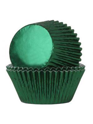 Vihreät säihkyvät folio muffinivuoat, 24 kpl