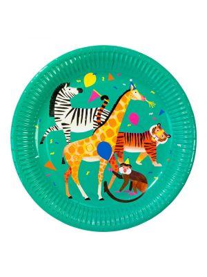Pahvilautaset, Party Animals, 8kpl