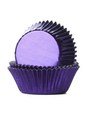 Violetit säihkyvät folio muffinivuoat, 24 kpl.