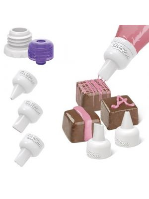 Wilton Candy Melts® Decorating Tip Set - Koristelusetti sulatulle suklaalle.