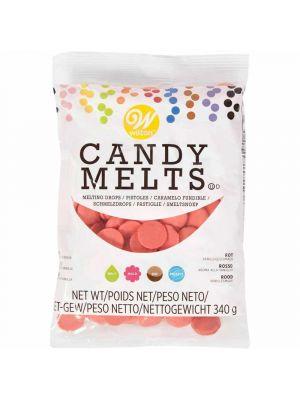 Wilton Candy Melts Red - Hennon punaiset suklaanapit, 340g.