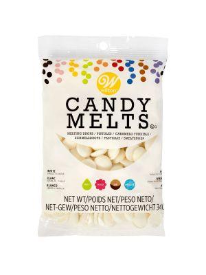 Wilton Candy Melts White - Valkoiset suklaanapit, 340g.