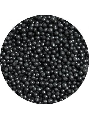 Scrumptious Black Sugar Pearls - Mustat sokerihelmet, 4mm.