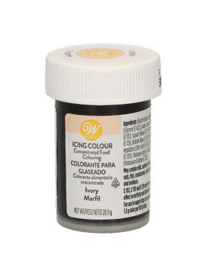 Wilton Icing Colour Ivory - Norsunluunvärinen pastaväri, 28g.