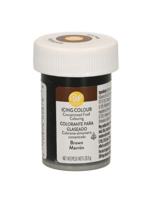 Wilton Icing Colour Brown - Ruskea pastaväri, 28g.