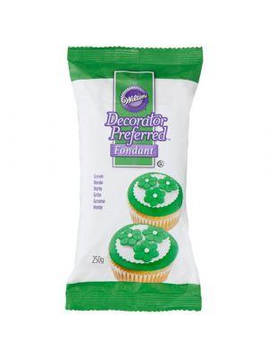 Wilton Decorator Preferred Fondant Green - Vihreä sokerimassa, 250g.