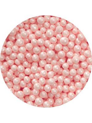 Wilton Pink Sugar Pearls - Vaaleanpunaiset sokerihelmet, 4mm.