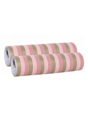 Serpentiinit vaaleanpunainen/kulta, 2 rullaa.