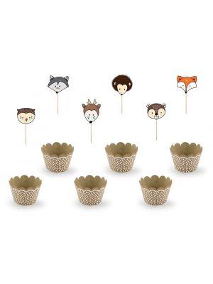 Cupcake -setti Woodland