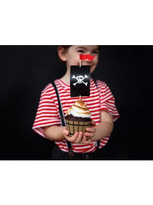 Cupcake kit - Pirates, 6 kpl