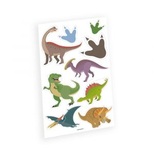 Dinosaurus aiheiset väliaikaiset tatuoinnit, 9 kpl.