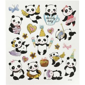 Suloiset panda-tarrat.