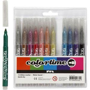 Colortime Kimalletussit, 12kpl