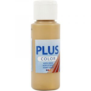 Plus Color Askartelumaali, Akryylimaali, Kulta. 60 ml