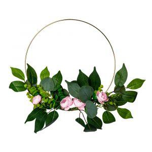 Kukkakranssi, Vaaleanpunaiset Pionit, 30cm