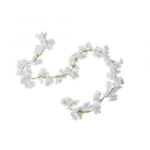Valkoinen kirsikka-kukkaköynnös silkkikukilla, 1.8 m.