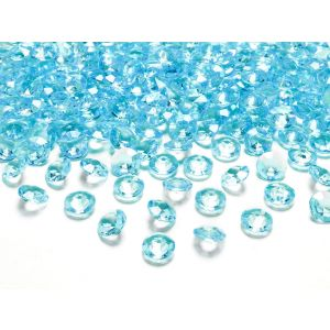 Vaaleanturkoosit timanttikonfetit
