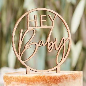 Puinen kakkukoriste - Hey Baby
