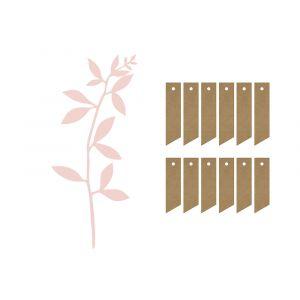 paperi koristelehdet vaaleanpunaiset ja tagit