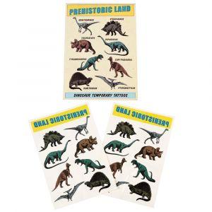 Dinosaurus aiheiset väliaikaiset tatuoinnit, 2 arkkia.