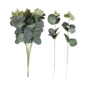 Keinotekoiset eukalyptus oksat lehdillä, 10 kpl