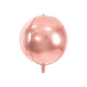 Ruusukullanvärinen pyöreä foliopallo