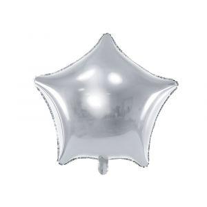 Hopeinen tähti foliopallo
