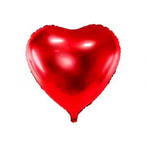 Sydämen muotoinen foliopallo, punainen