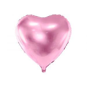 Foliopallo - Vaaleanpunainen Sydän, 45cm