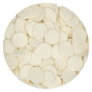 FunCakes Deco Melts Extreme White - Kirkkaan valkoiset suklaanapit, 250g.