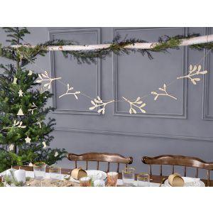 Puinen misteli joulu-viiri, 120 cm.