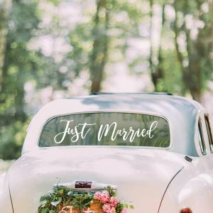 Hääauto koristetarra Just Married