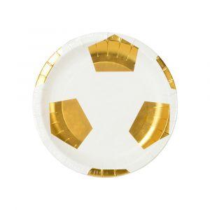 Jalkapallo lautaset, 6 kpl.