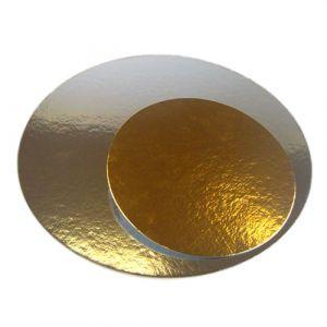 Näyttävä kultainen kakkualusta, 3 kpl.