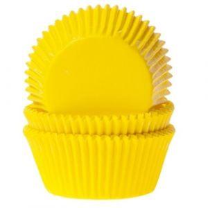 Keltaiset muffinivuoat, 50 kpl.