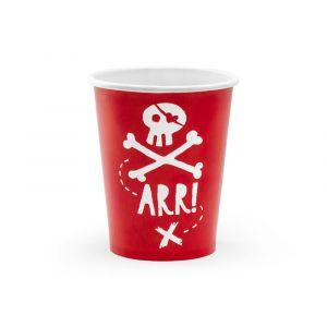 Pahvimukit - Pirate, 6 kpl
